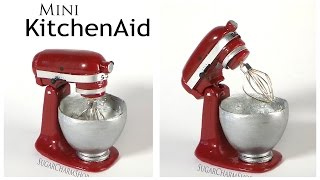 getlinkyoutube.com-Miniature KitchenAid / Stand Mixer - Polymer Clay Tutorial