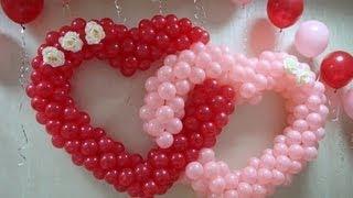 getlinkyoutube.com-Сердце из Шаров - Оформление свадеб