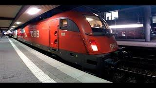 getlinkyoutube.com-German City-Night-Line Trains at Munich Main Station