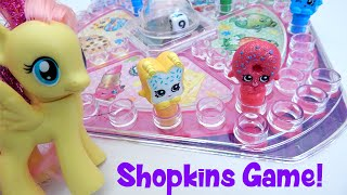 getlinkyoutube.com-Shopkins Pop N Race Board Game Unboxing with Fluttershy