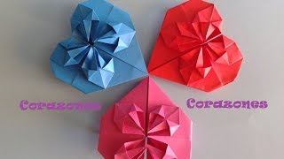 getlinkyoutube.com-Origami - Papiroflexia. Corazón para decorar o regalar San Valentín o Día de la Madre