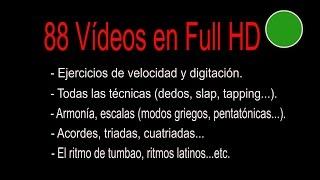 PRIMER CURSO COMPLETO de BAJO para PRINCIPIANTES - 88 Vídeos en Full HD. width=