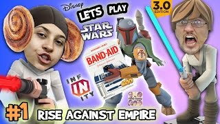 Lets Play DISNEY INFINITY 3.0 - STAR WARS: Boo Boo Fett & Cranky Chase (RISE AGAINST THE EMPIRE #1)