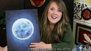getlinkyoutube.com-How to Paint a Moon & Star filled Sky · Bella Luna