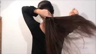 getlinkyoutube.com-[Hair care] After hair wash: Drying, oiling and detangling