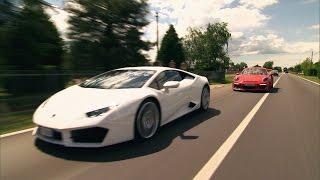 getlinkyoutube.com-Roadtrip nach Italien: Porsche 911 GT3 RS vs. Lamborghini Huracán - GRIP - Folge 369 - RTL2