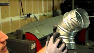 How To adjust a Round Adjustable Sheet Metal Duct Elbow - The Sheet Metal Kid