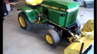 getlinkyoutube.com-My 1983 John Deere 318 - Setting up for winter, 49 Blower & Plow