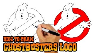 getlinkyoutube.com-How to Draw No Ghosts Logo | Ghostbusters