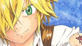 getlinkyoutube.com-Speed drawing: Nanatsu no Taizai - Meliodas
