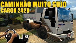 getlinkyoutube.com-FORD CARGO 2428 SUJO DE LAMA - MAPA EAA 3.0 - JOGANDO COM O VOLANTE G27!!!