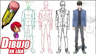 getlinkyoutube.com-Como dibujar un chico tipo manga (de frente explicado)
