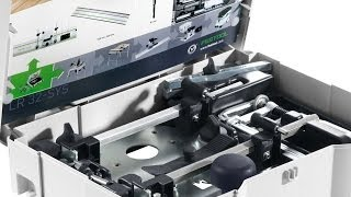 getlinkyoutube.com-Festool LR 32 Shelf Pin and Hinge Boring System (584100) - Setup and Calibration