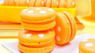 มาการองลายจุด | มาการองสีส้ม | Polka Dot Macaron