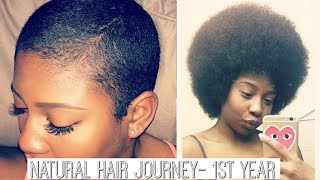 getlinkyoutube.com-Natural Hair Journey - From The Very Beginning to my 1st Year