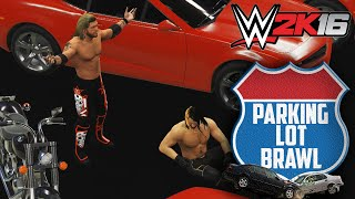 getlinkyoutube.com-WWE 2K16 - Parking Lot Brawl: Seth Rollings vs Edge Gameplay