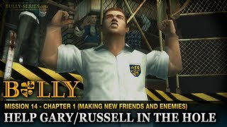 getlinkyoutube.com-Help Gary / Russell in the Hole - Mission #14 - Bully: Scholarship Edition