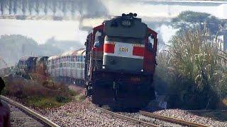 getlinkyoutube.com-Fast Diesel Trains : Aggressive Diesel Monsters Rule this Section : Indian Railways