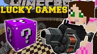 Minecraft: ROCKET LAUNCHERS EXPLOSIVE CHALLENGE GAMES - Lucky Block Mod - Modded Mini-Game