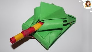 getlinkyoutube.com-Tanque de papel que dispara cotonetes (Tutorial - Origami)