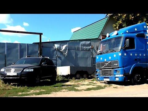 Touareg V8 вытаскивает тягач Volvo FH12
