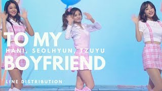 getlinkyoutube.com-HANI, SEOLHYUN, TZUYU - TO MY BOYFRIEND (MBC Gayo Daejun 2016)|| Line Distribution