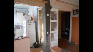 getlinkyoutube.com-Прячем холодильник в кухне, дизайн кухни 5,5 км\м