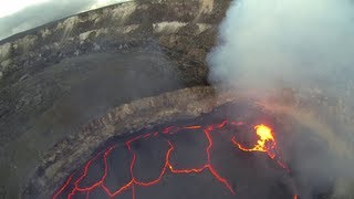 getlinkyoutube.com-FPV RC Airplane Flying inside Volcano Crater Lava Lake Hawai'i