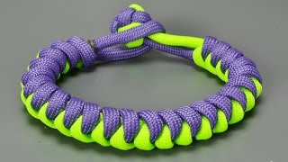 getlinkyoutube.com-How to make Snake paracord bracelet
