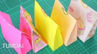 getlinkyoutube.com-วิธีพับถุงกระดาษ ใส่ของ จากกระดาษ A4