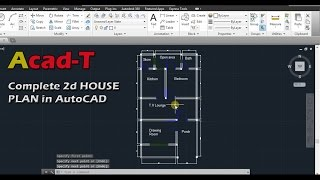 getlinkyoutube.com-How to Create Complete 2d HOUSE PLAN in AutoCAD, Site Plan of House - AutoCAD tutorial