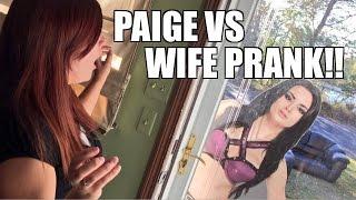 getlinkyoutube.com-WWE DIVA PAIGE WANTS TO WRESTLE WIFE PRANK!