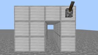 getlinkyoutube.com-Minecraft 超簡単シンプル!2×1隠れピストンドア