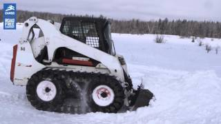 getlinkyoutube.com-Camso over-the-tire tracks (OTT) for skid steers: perform during winter