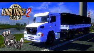 getlinkyoutube.com-Euro Truck Simulator 2 - Mercedes-Benz Atron | Logitech G27