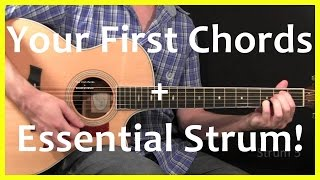 getlinkyoutube.com-Guitar Lessons - Your First Chords And Strum
