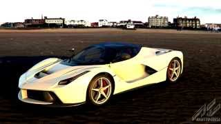 getlinkyoutube.com-White Ferrari LaFerrari at the beach - Assetto Corsa Showroom HQ