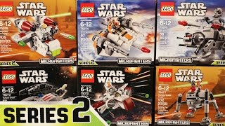 LEGO Star Wars Mircofighters SERIES 2 - ALL 6 SETS (Timelapse & Reviewed)