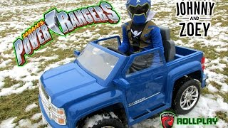"getlinkyoutube.com-POWER WHEELS Chevy Silverado POWER RANGERS  Unboxing ""Aria Child Roll Play"" POWER WHEELS VIDEO"