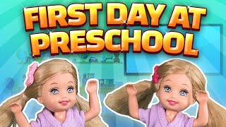getlinkyoutube.com-Barbie - The Twins First Day at Preschool