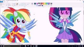 getlinkyoutube.com-MLP MANE 7 NEW OUTFITS LEGEND OF THE EVERFREE PART 1/2//Speedpaint