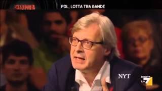 getlinkyoutube.com-SGARBI SHOW BERLUSC..CAPOCOGLIONE ALFANO UN CRETINO - PIAZZA PULITA 7 10 2013