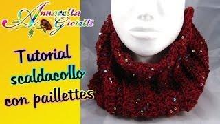 getlinkyoutube.com-Tutorial scaldacollo con paillettes all'uncinetto | How to crochet a scarf