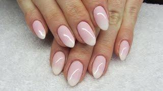 getlinkyoutube.com-How to make babyboomer soak off nails? Jak zrobić ombre french na hybrydach? Basevehei