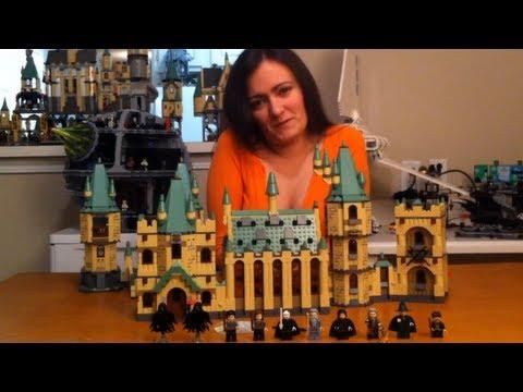 Lego Harry Potter 4842 Hogwarts Castle Review & How to Connect Lego 4867 Battle for Hogwarts