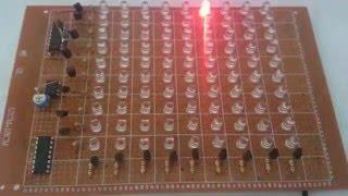 getlinkyoutube.com-81 LED chaser using double IC 4017 نشرة ضوئية جميلة