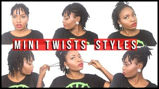 How to Style Mini Twists on Natural Hair ( 4C ) | Feyisetan Idowu
