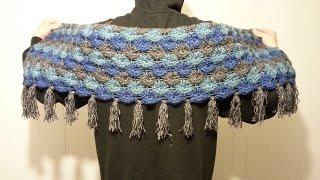 getlinkyoutube.com-CROCHET How to: #Crochet Gorgeous (Bavarian Stitch Shawl) Scarf Wrap #TUTORIAL #146 LEARN CROCHET