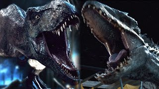 getlinkyoutube.com-Jurassic World T Rex vs Indominus Rex (SPOILER)1080p HD