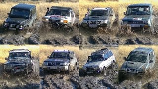 getlinkyoutube.com-Mercedes G vs Toyota FJ Cruiser & Land Cruiser vs Nissan Patrol & Terrano
